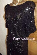 Stunning ❤️ WALLIS SIZE 10 - 12 Black Sequin, Flapper , Gatsby 1920's Dress
