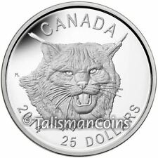 Canada 2014 Canadian Lynx $25 Ultra High Medallic Relief Silver Proof Full OGP