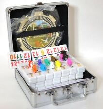 Double 12 Mexican Train Dominos Number Chicken Foot w/ Hub Aluminum Case NEW