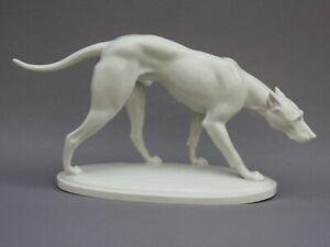 Schwarzenburger Werkstätte Porzellanfigur Dogge Arthur Storch Art Deco Porzellan