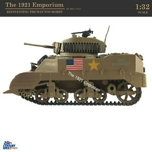 RARE ☆ 1:32 21st Century Toys Ultimate Soldier WWII US Army M3 Stuart Tank
