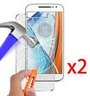 2x Motorola Vitre Protection en Verre Trempé Film de protecteur d'écran Glass