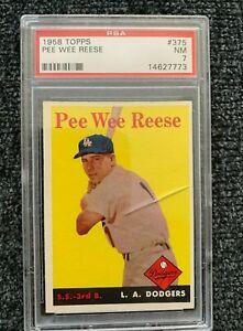 1958 Topps Pee Wee Reese PSA 7