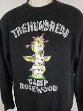 The Hundreds Crewneck Sweater Camp Rosewood Size Small 2332