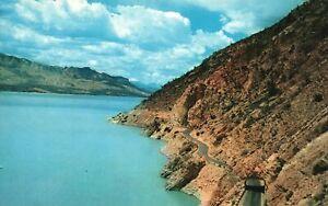Vintage Postcard Buffalo Bill Reservoir Cody Road To Yellowstone National Park