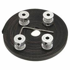 4* GT2 20T 5mm Bore 6mm Width Pulley+4M GT2 Timing Belt CNC 3D Printer Rep FQX