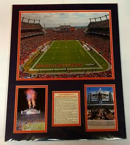 Great Moments Denver Broncos History Champions Matted Prints Manning Football 18