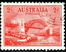 1932 Australia Sg 141 2d scarlet Opening of Sydney Harbour Bridge Fine Used