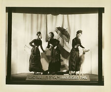 1940's PHOTO DEPT. STORE WINDOW DISPLAY FASHION MANNEQUINS MALLEY'S NEWHAVEN CT