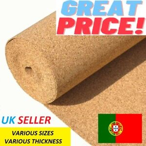Cork Underlay__Cork Sheet Roll__Various Sizes__Various thicknesses__1m Width
