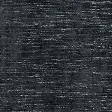 Essentials Chenille Upholstery Drapery Fabric Black / Baltic