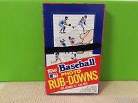 1984 Topps Baseball Photo Rub-Downs RubDowns Rub Down Card  Wax Pack Box