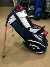 Callaway Fairway Double Strap Stand Bag 2020 - Navy/White/Red