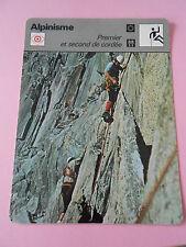 Alpinisme Premier et second de Cordée Fiche Card 1978