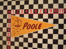 1960's Style Vintage Poole Holiday Pennant - Classic Camper Coach VW Car