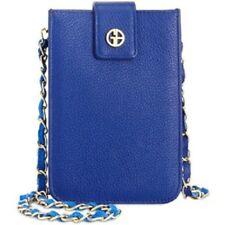 Giani Bernini Cobalt Blue Softy Leather Smartphone Crossbody Bag OS