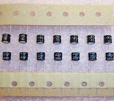 QTY (100) 15uf 35V MINIATURE RADIAL ALUMINUM ELECTROLYTIC SRE35VB15RM6.3X5 NCC