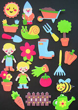 Gardening foam stickers, scrapbooking,  cardmaking, kids crafts