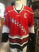 Charlotte Checkers XL  Hockey Jersey Hurricanes Carolina R. BURCH captains