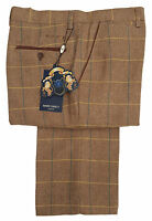 MENS MARC DARCY SMART TWEED CHECK TROUSERS STYLE DX7 - OAK