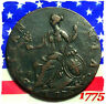 1775 GEORGE III HALF PENNY COLONIAL DAYSOF OLD  AMERICAN REVOLUTIONARY WAR  COIN