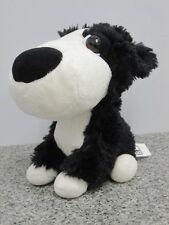 Dodger Perro Pastor Grande Headz perro co-op Corral Amigos Juguete Suave Blanco y Negro