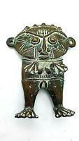 Vintage Antique Benin Fetish Figurine Statue Bronze African Lady