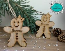 Personalised Gingerbread Man, Gingerbread Girl, Christmas Decoration, Children's