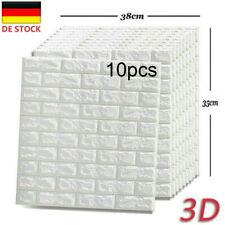10 Tlg 3D Ziegel Tapete Wandaufkleber Wandpaneele Selbstklebend 35x38.5x0.5cm DE