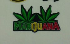 RASTA 2 MARIJUANA HEMP EMBROIDERED PATCH ABOUT 4.5 INCHES X 2.5 INCHES SEW IRON
