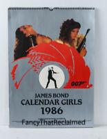 James Bond Calendar Girls 1986 | K & J Lockwoods Sample Calendar | Very Good+