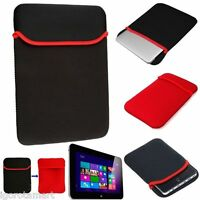 "Black Red Soft Sleeve Bag Case Cover Pouch for 7"" 7.9"" 8"" Tablet PC iPad Mini"