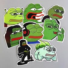 Pepe Sad Frog Stickers 8 pcs Meme Kawaii Stickerbomb Skateboard Decal Phone