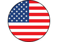 USA / AMERICAN FLAG FILLED IN A CIRCLE SHAPE STICKER 10 cm x 10 cm