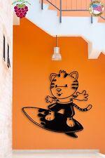 Wall Sticker For Kids Tiger On A Serfing Board for Nursery Room z1354