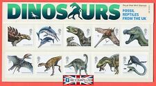 2013 Dinosaurs: Fossil reptiles from the UK Presentation Pack Pack. No 490