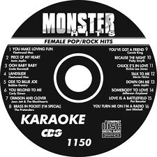 Karaoke Monster Hits Cd+G 80's Female Pop Rock Hits #1150