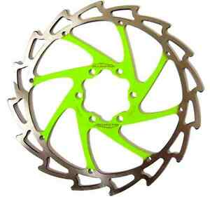 Alligator Windcutter LIGHT GREEN Mountain & EBike Disc Brake Rotor 203mm +bolts