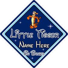 Personalizzata Little Tiger a bordo Cartello Auto – DISNEY WINNIE THE POOH TIGRO DB