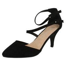 Suede Strappy Slim Heels for Women