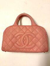 Chanel Boston Bag in Pink Caviar skin leather