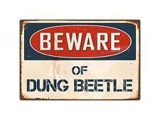 "Beware Of Dung Beetle 8"" x 12"" Vintage Aluminum Retro Metal Sign VS149"