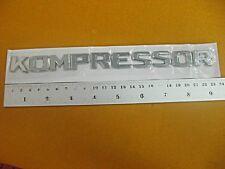 MERCEDES C230 1998-2005 KOMPRESSOR REAR CHROME LOGO BADGE EMBLEM 3D