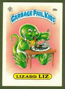 1985 GPK Garbage Pail Kids Series 1 Lizard Liz 38b Disgusting Eater License