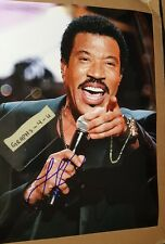 Lionel Richie Signed Commodores Autograph proof coa f