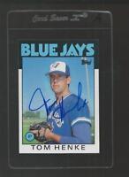 Tom Henke Signed Auto 1986 Topps #333 Baseball Card Autograph A