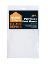 2 LARGE POLYTHENE PLASTIC DUST SHEET COVER 3.6M X 2.7M PAINTING DECORATING DIY
