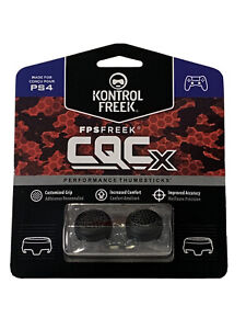 KontrolFreek CQCX Thumbsticks for PS4 PS5 New Black FPS Freek PlayStation CQC