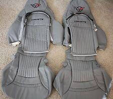 1997-2004 C5 Corvette Genuine Leather Seat Covers Light Grey Sport Seats