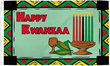 """New listing """"Happy Kwanzaa"""" 3x5 ft flag polyester"""